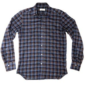 Canali Casual Check Button Up Shirt
